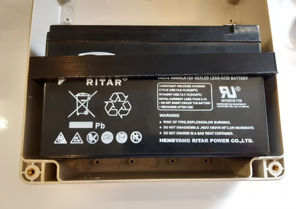 mounting battery