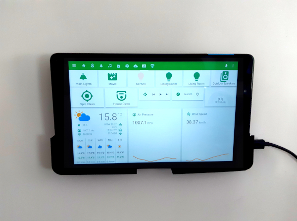 home assistant wall mounted tablet