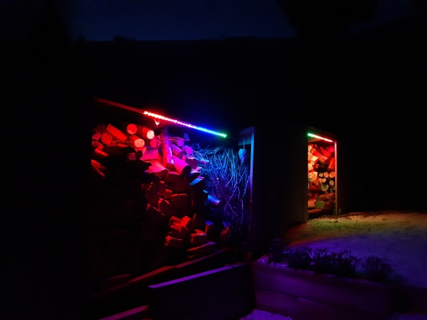shed lights rainbow