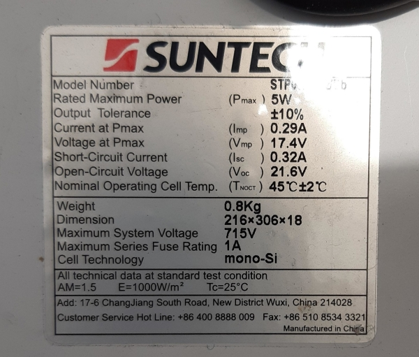 solar powered esp32 panel specs